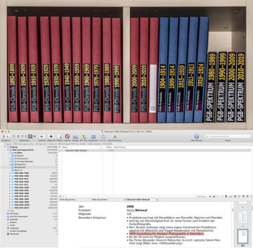 Die archivierten Dokumente und die Datenbank.